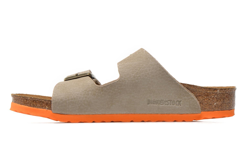 Sandales et nu-pieds Birkenstock Arizona Birko-Flor Gris vue face