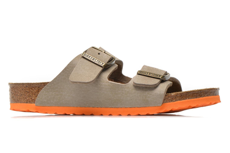 Sandales et nu-pieds Birkenstock Arizona Birko-Flor Gris vue derrière