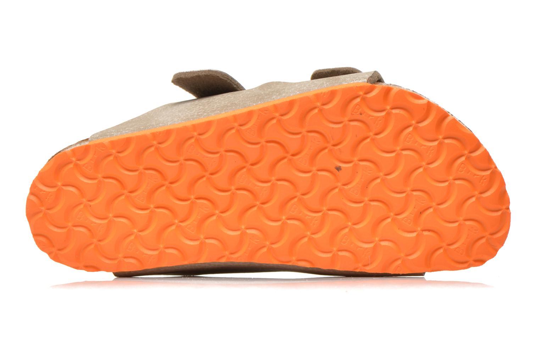 Sandales et nu-pieds Birkenstock Arizona Birko-Flor Gris vue haut