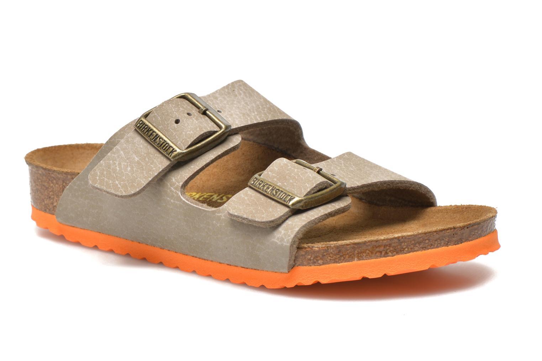 Sandales et nu-pieds Birkenstock Arizona Birko-Flor Gris vue détail/paire