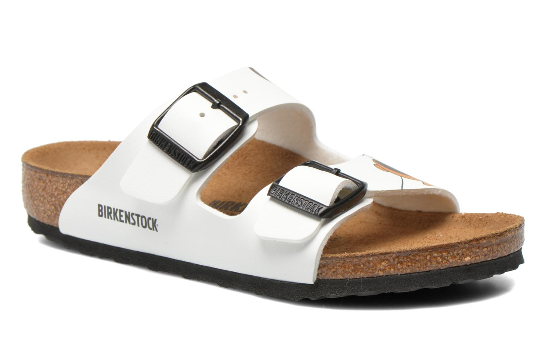 Sandalias Birkenstock Arizona Birko-Flor Blanco vista de detalle / par