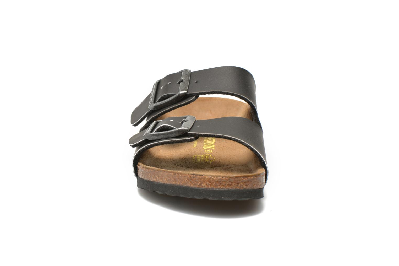 Sandalen Birkenstock Arizona Birko-Flor schwarz schuhe getragen