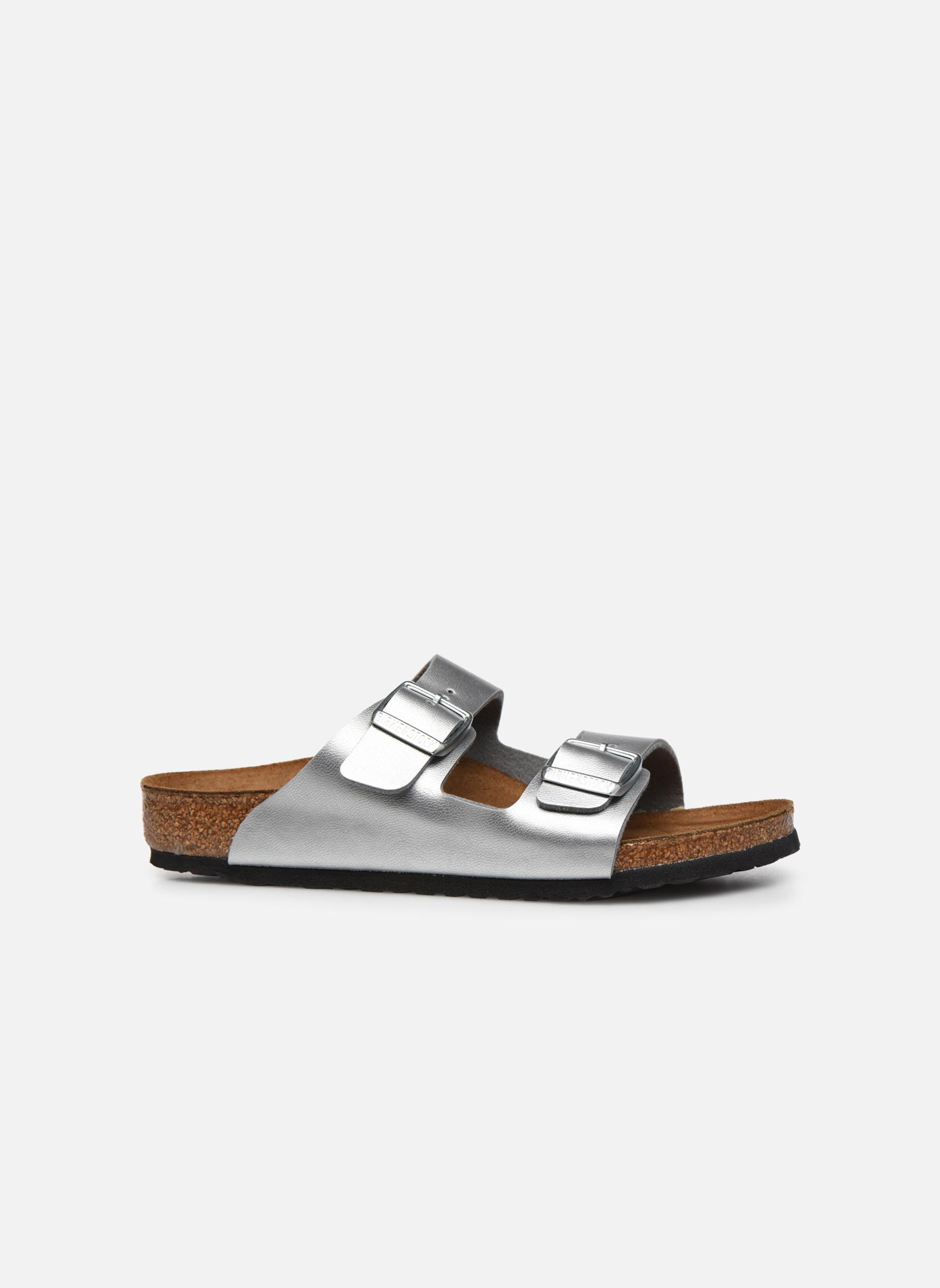 Sandales et nu-pieds Birkenstock Arizona Birko-Flor Argent vue derrière