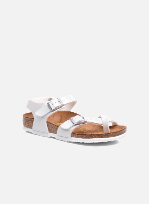 Sandals Birkenstock TAORMINA White detailed view/ Pair view