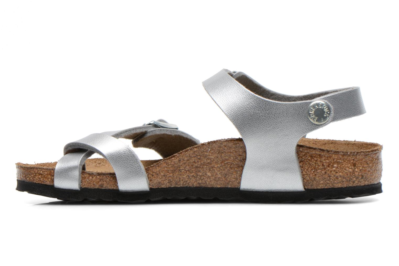 Sandales et nu-pieds Birkenstock TAORMINA Argent vue face