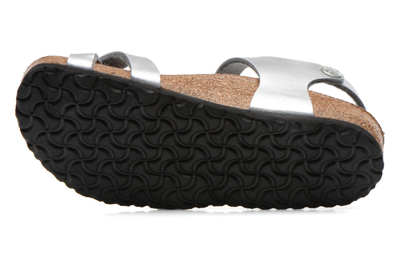 Sandales et nu-pieds Birkenstock TAORMINA Argent vue haut