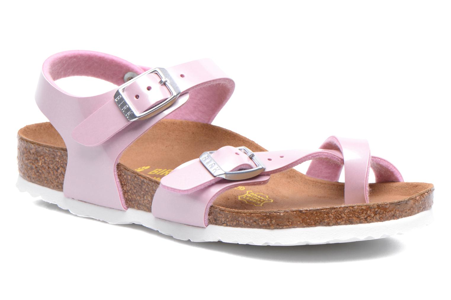 Sandals Birkenstock TAORMINA Pink detailed view/ Pair view