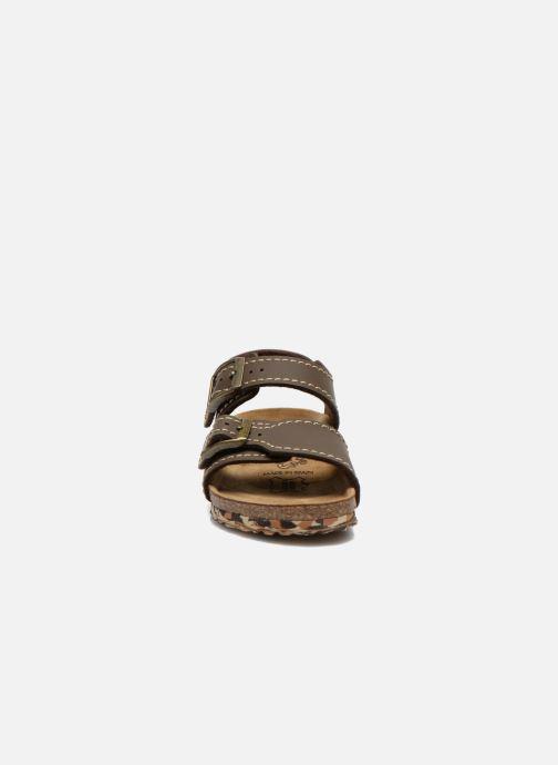 Sandali e scarpe aperte Birkenstock NEW YORK Marrone modello indossato