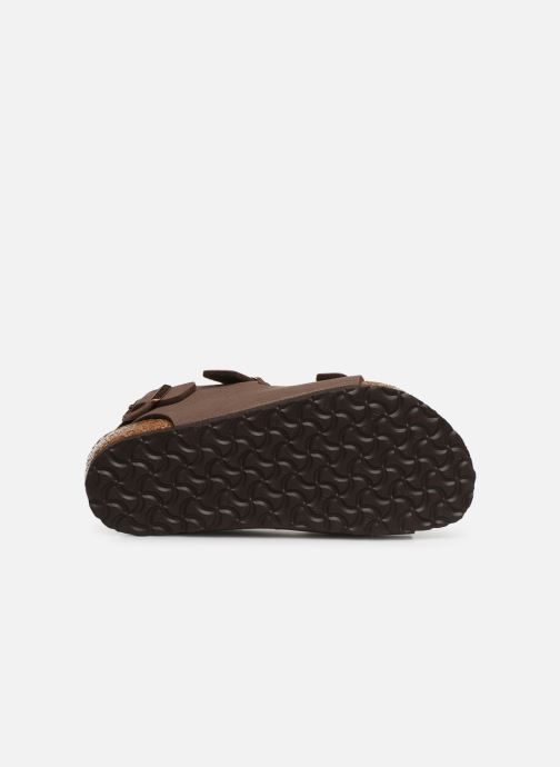 Sandals Birkenstock ROMA Brown view from above