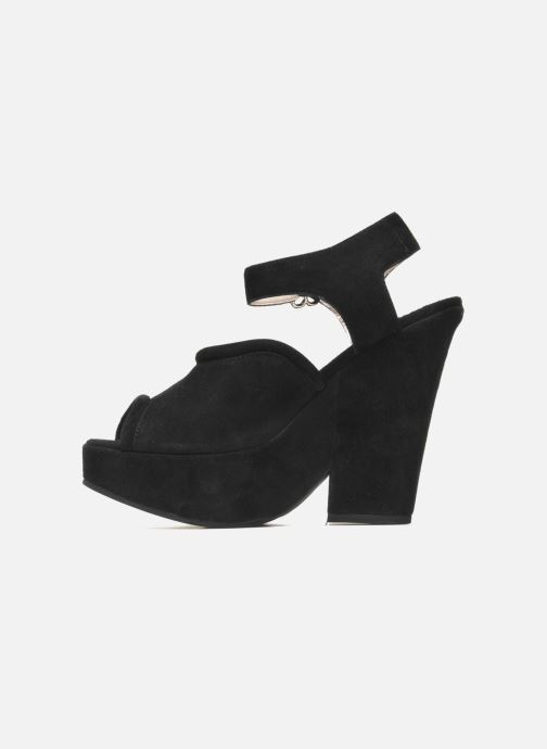 Sandales et nu-pieds Carven Gabrielly Noir vue face