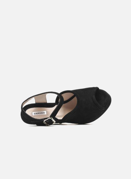 Sandales et nu-pieds Carven Gabrielly Noir vue gauche