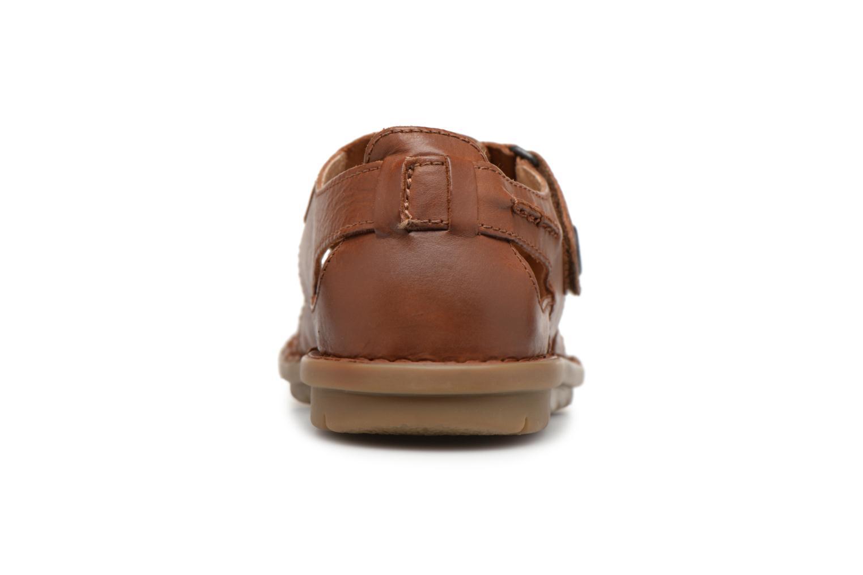 Sandalen Kickers Vidal braun ansicht von rechts