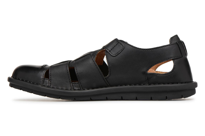 Sandales et nu-pieds Kickers Vidal Noir vue face