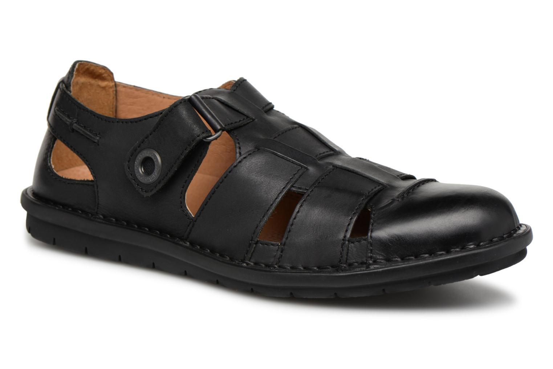 Sandales et nu-pieds Kickers Vidal Noir vue détail/paire