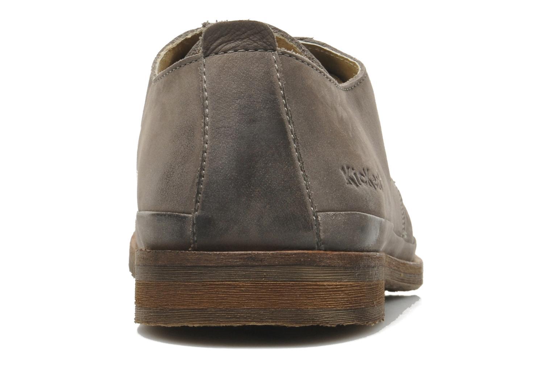 Chaussures à lacets Kickers Flavis Gris vue face
