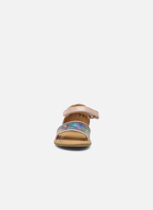 Sandali e scarpe aperte Shoo Pom Tity Back Sandal Rosa modello indossato