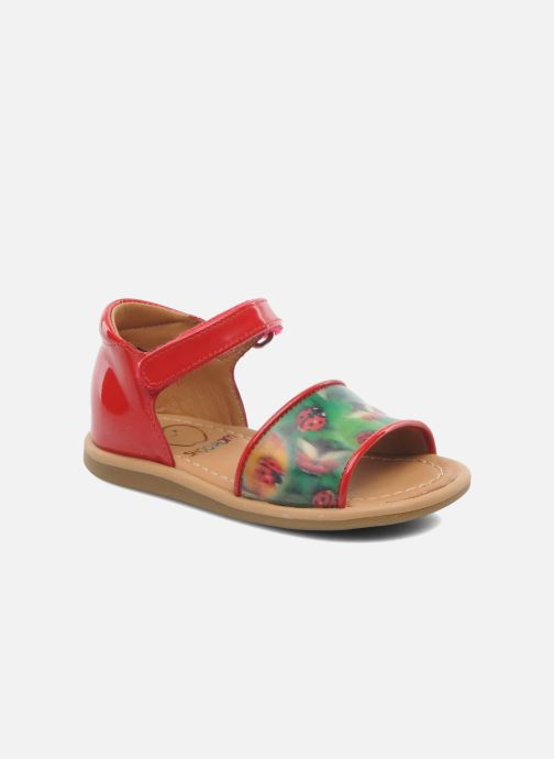 Sandaler Shoo Pom Tity Back Sandal Rød detaljeret billede af skoene
