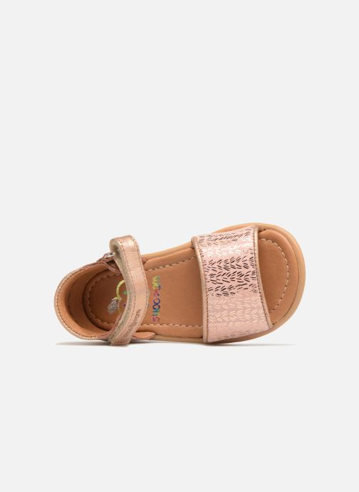 Sandals Shoo Pom Tity Back Sandal Silver view from the left