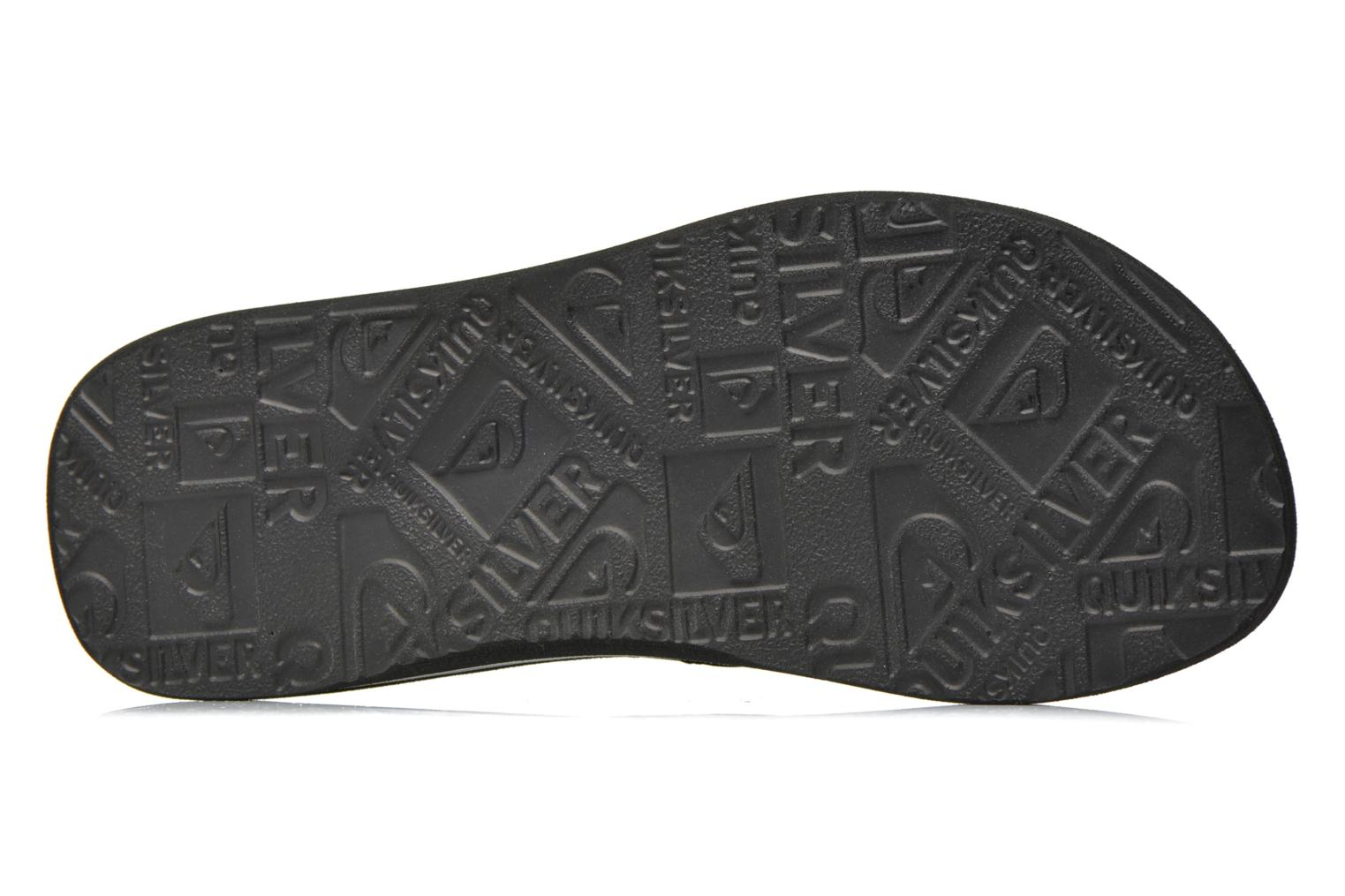 Tongs Quiksilver Basis Noir vue haut