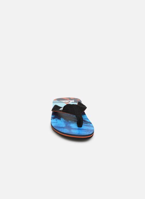 Zehensandalen Quiksilver Molokai layback blau schuhe getragen