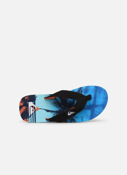 Flip flops Quiksilver Molokai layback Blue view from the left