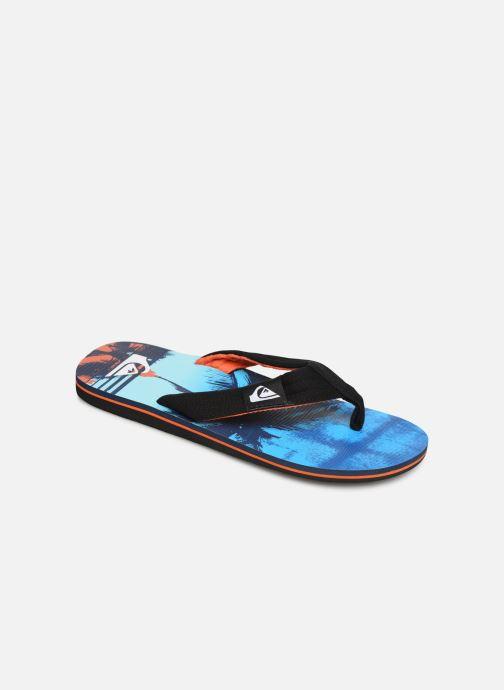 Flip flops Quiksilver Molokai layback Blue detailed view/ Pair view