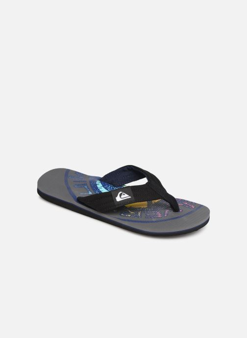 Flip flops Quiksilver Molokai layback Grey detailed view/ Pair view