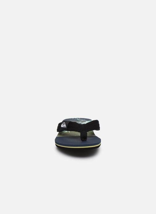 Tongs Quiksilver Molokai layback Noir vue portées chaussures