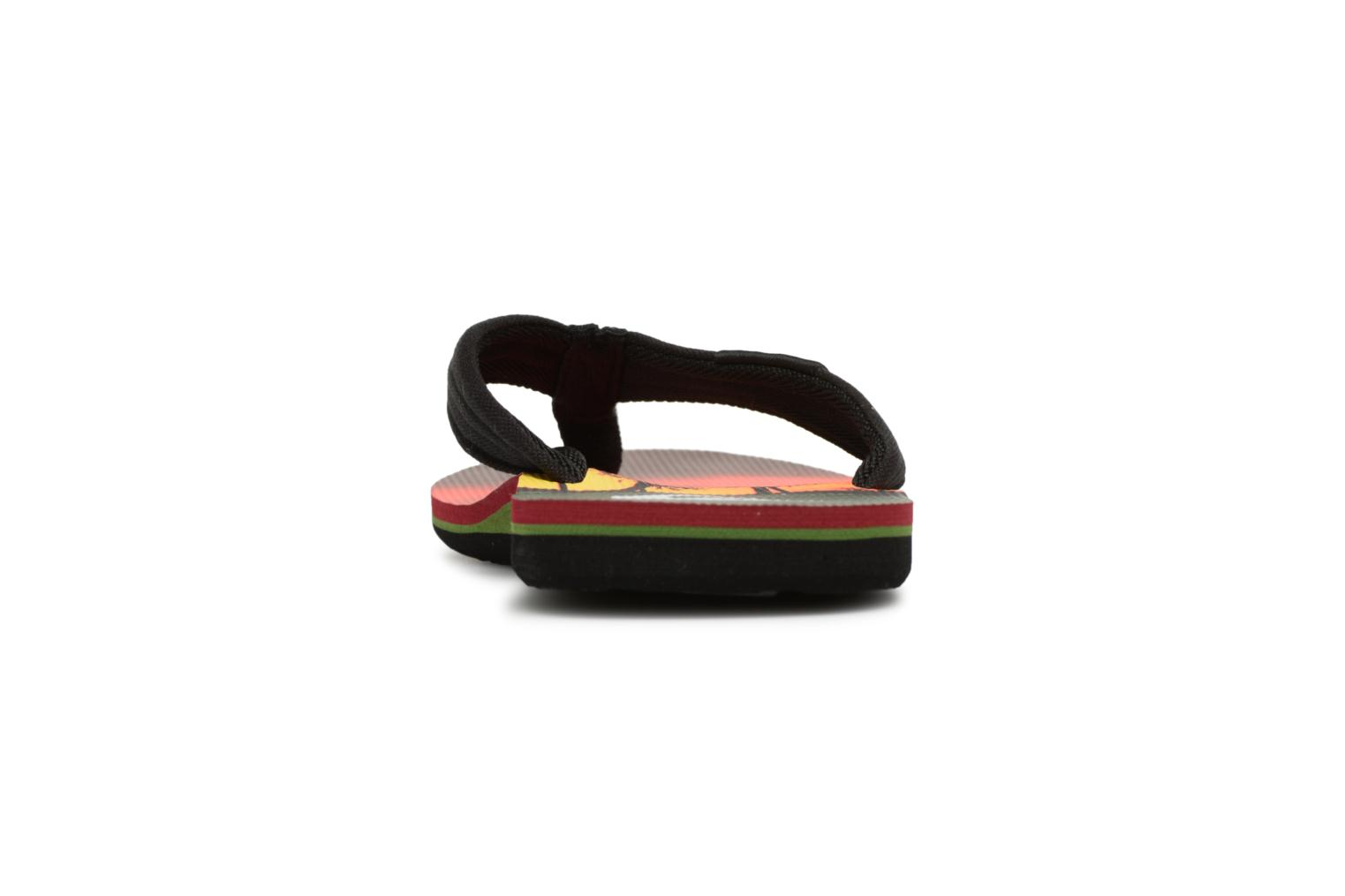Flip flops Quiksilver Molokai layback Orange view from the right
