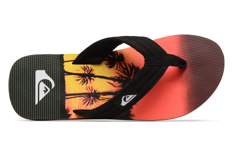 Flip flops Quiksilver Molokai layback Orange view from the left