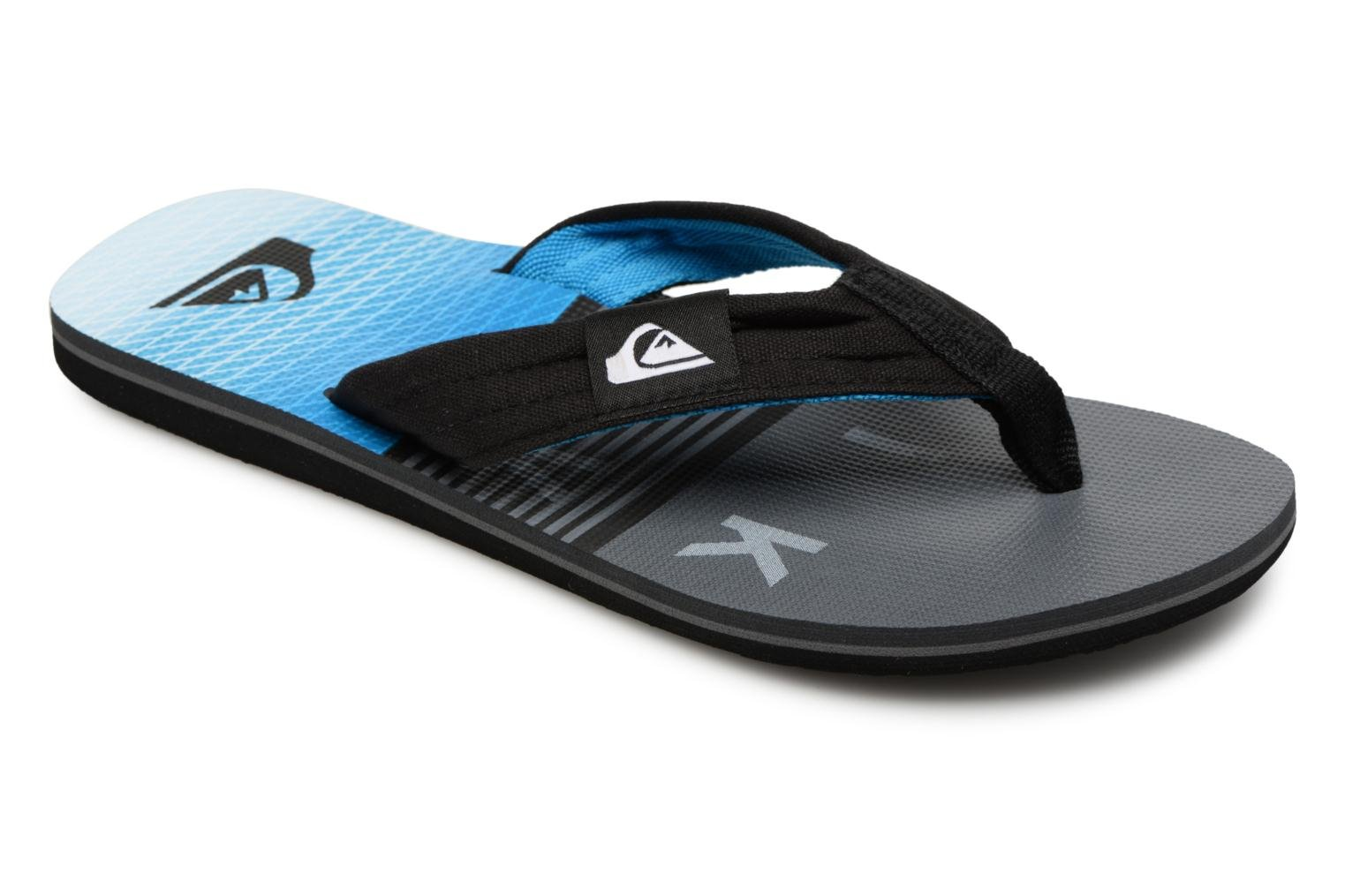 Flip flops Quiksilver Molokai layback Blue detailed view/ Pair view