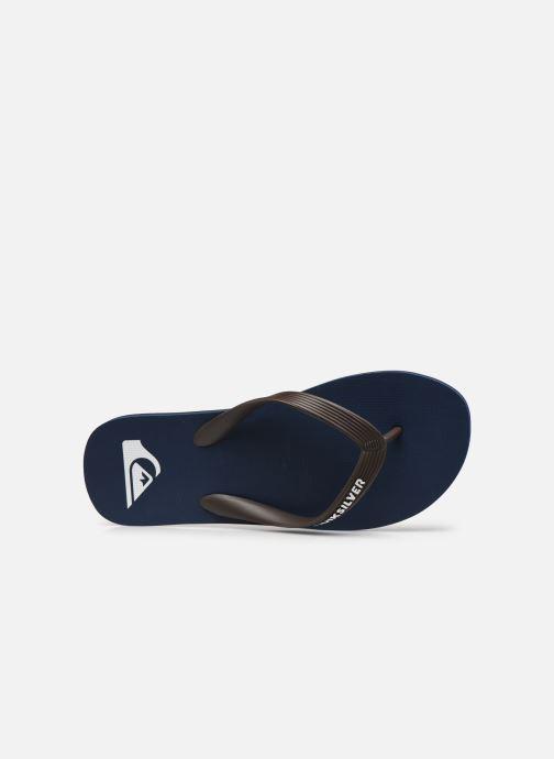 Slippers Quiksilver Molokai Blauw links