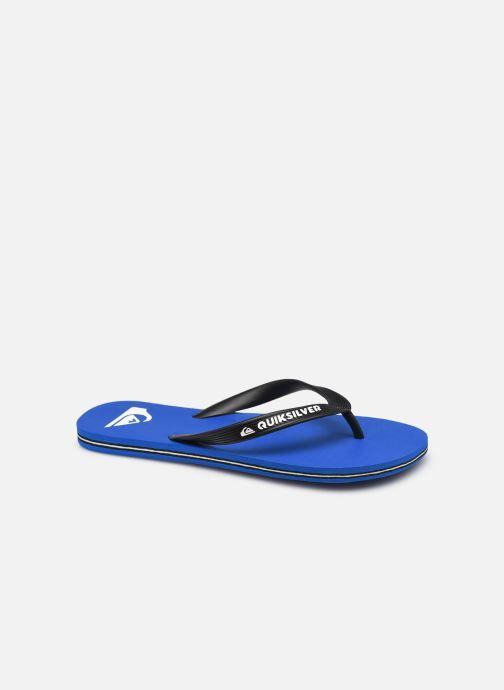 Tongs Quiksilver Molokai Bleu vue détail/paire