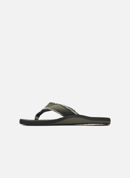 Infradito Quiksilver Monkey Abyss Verde immagine frontale