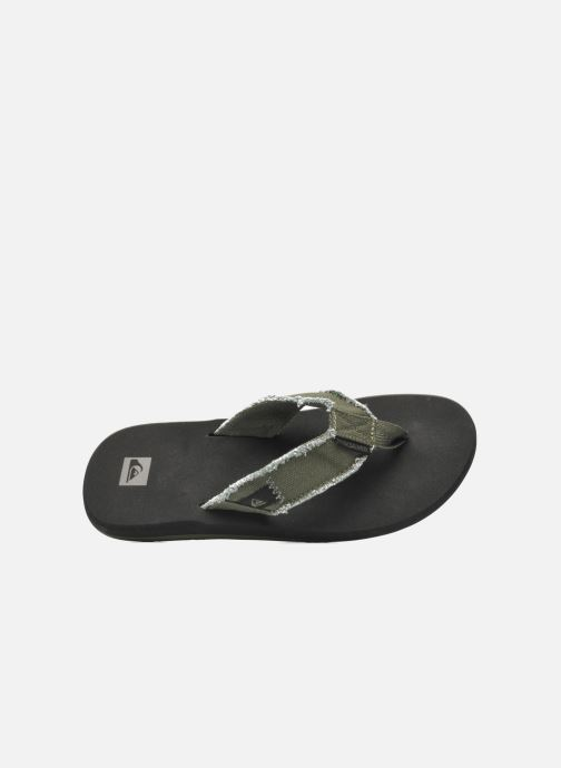 Infradito Quiksilver Monkey Abyss Verde immagine sinistra