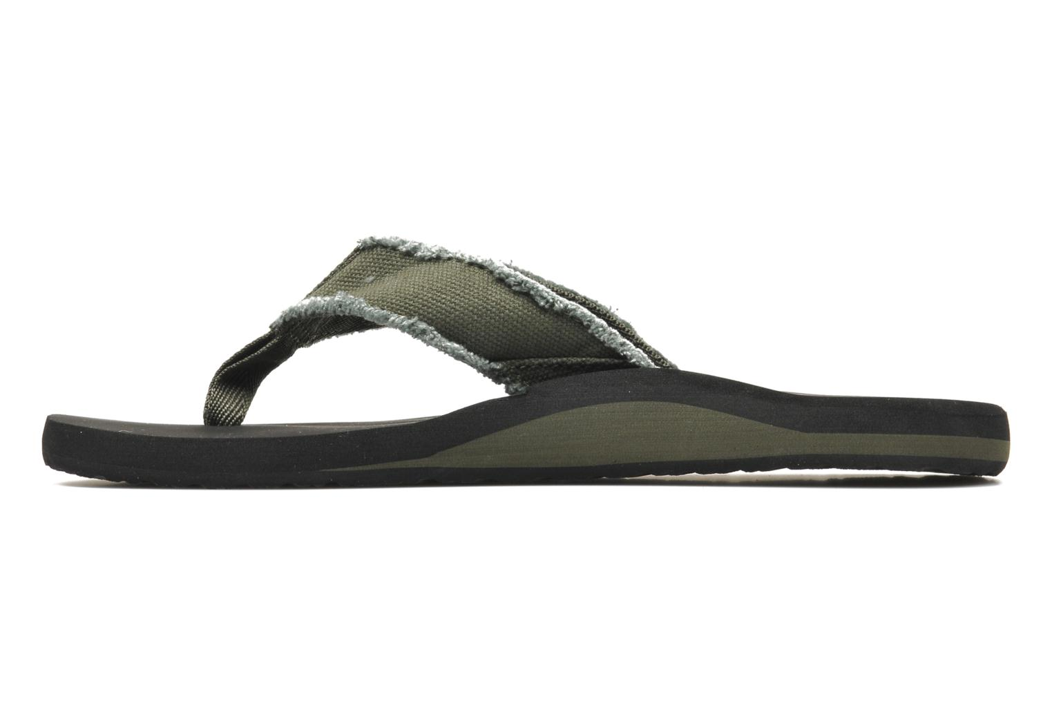 Flip flops Quiksilver Monkey Abyss Green front view