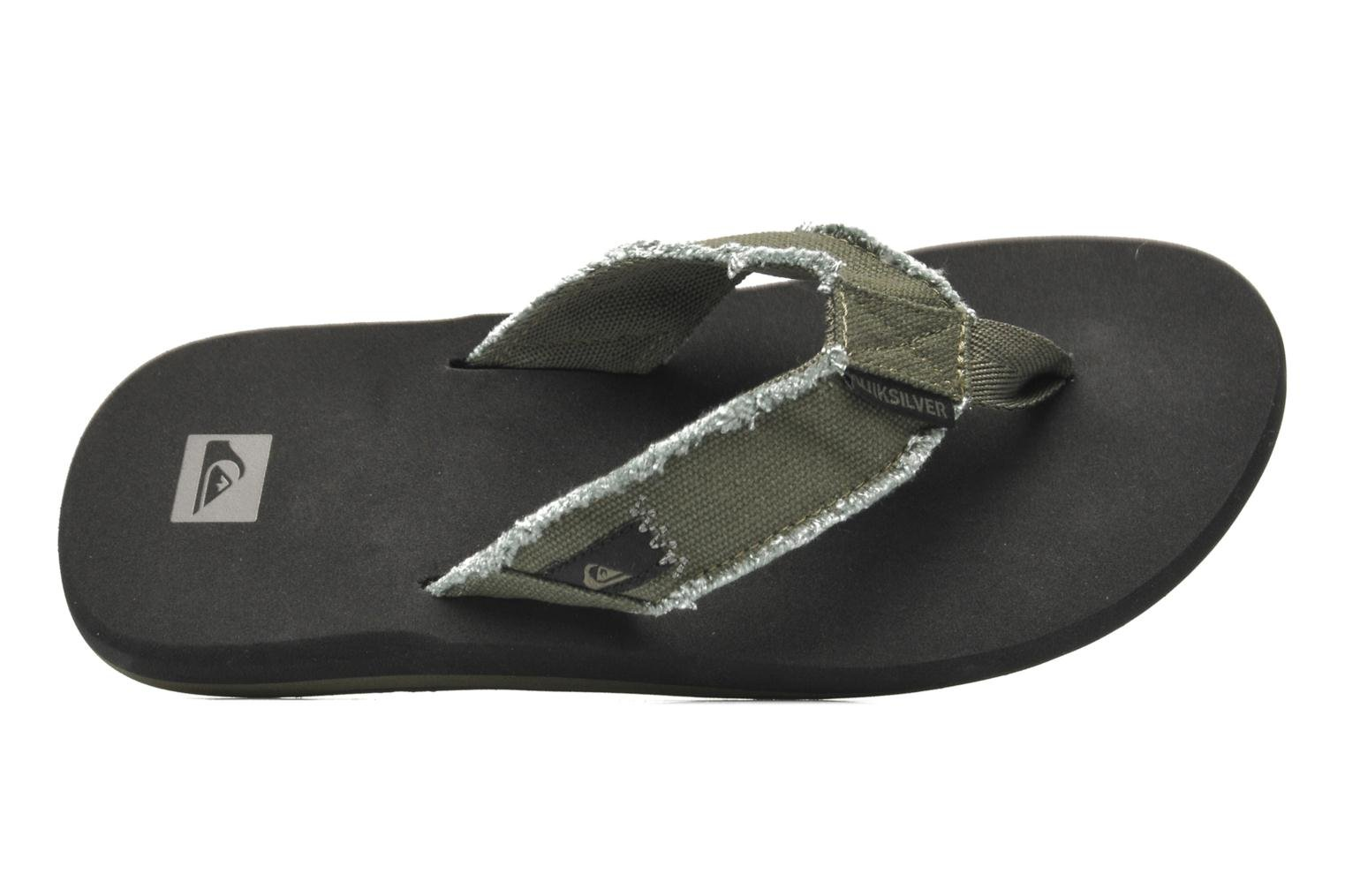 Flip flops Quiksilver Monkey Abyss Green view from the left