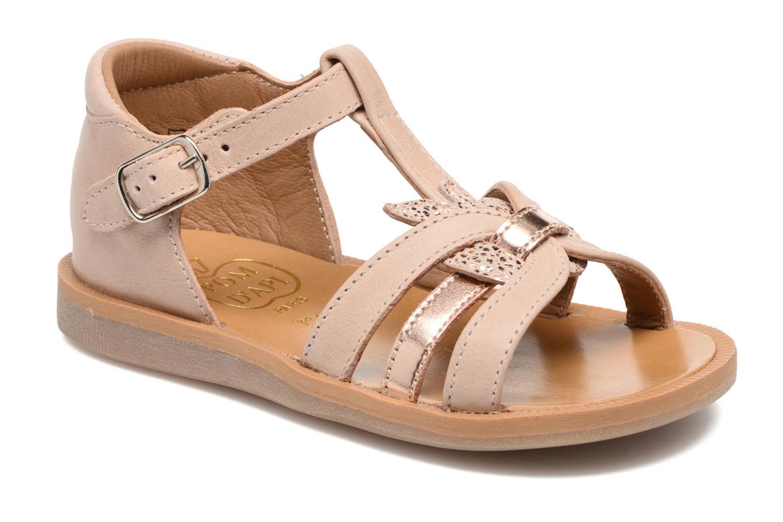 Sandaler Pom d Api POPPY APPLE Beige detaljeret billede af skoene