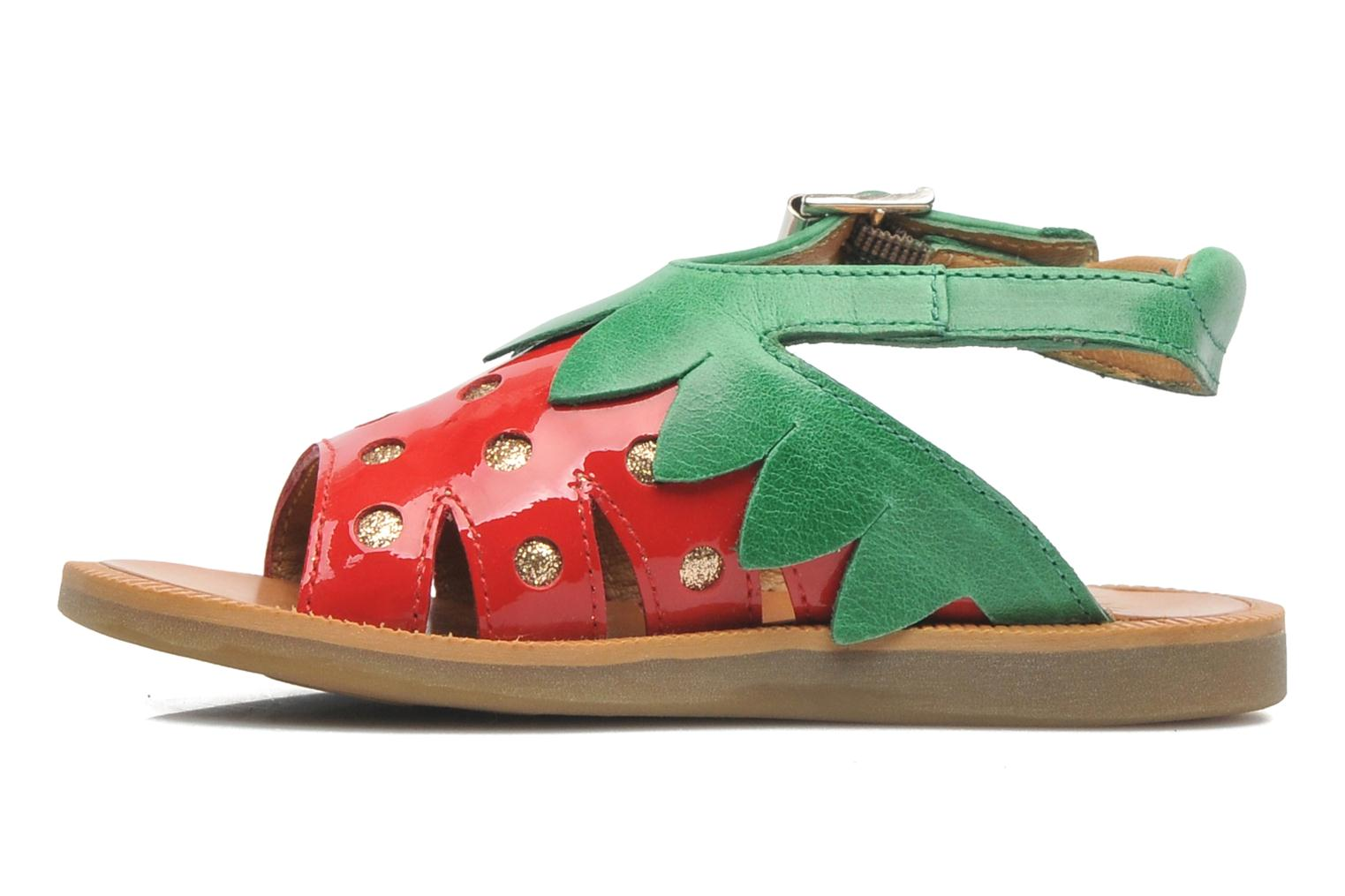 Sandals Pom d Api POPPY STRAWBERRY Red front view