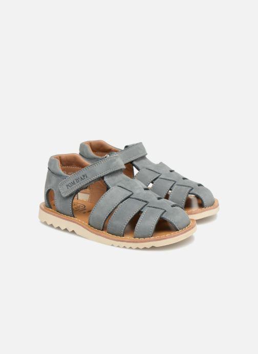 Sandales et nu-pieds Pom d Api Waff Papy Gris vue 3/4