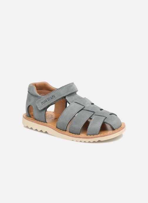 Sandales et nu-pieds Pom d Api Waff Papy Gris vue détail/paire
