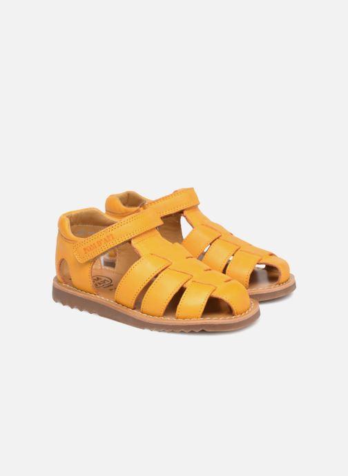 Sandales et nu-pieds Pom d Api Waff Papy Jaune vue 3/4