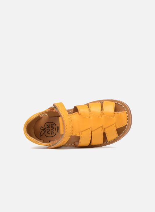 Sandales et nu-pieds Pom d Api Waff Papy Jaune vue gauche