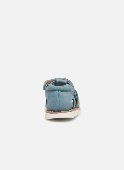 Sandalen Pom d Api Waff Papy Blauw rechts