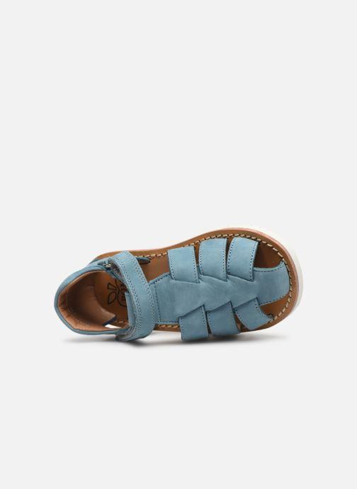 Sandalen Pom d Api Waff Papy Blauw links