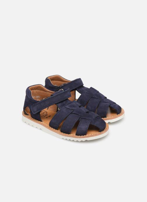 Sandales et nu-pieds Pom d Api Waff Papy Bleu vue 3/4