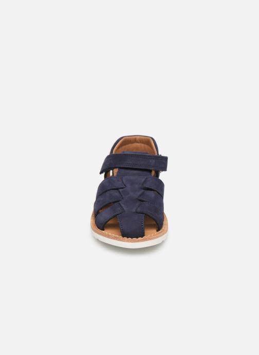 Sandales et nu-pieds Pom d Api Waff Papy Bleu vue portées chaussures