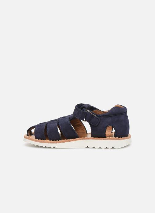 Sandales et nu-pieds Pom d Api Waff Papy Bleu vue face