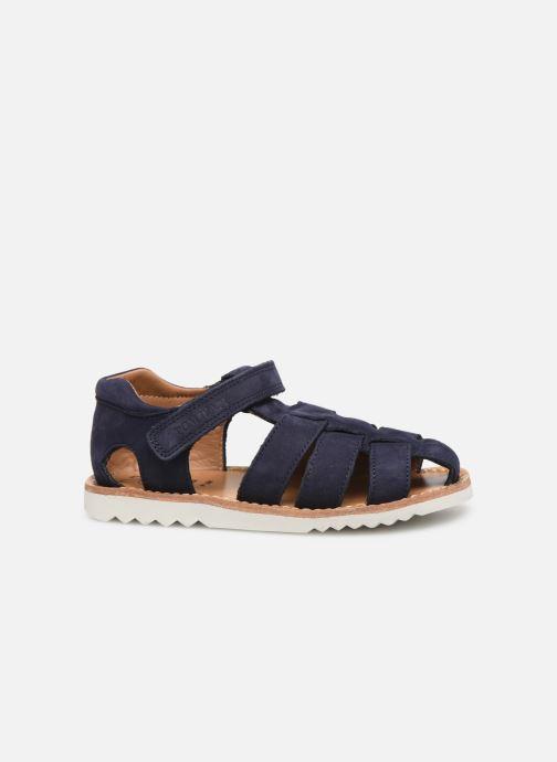 Sandales et nu-pieds Pom d Api Waff Papy Bleu vue derrière