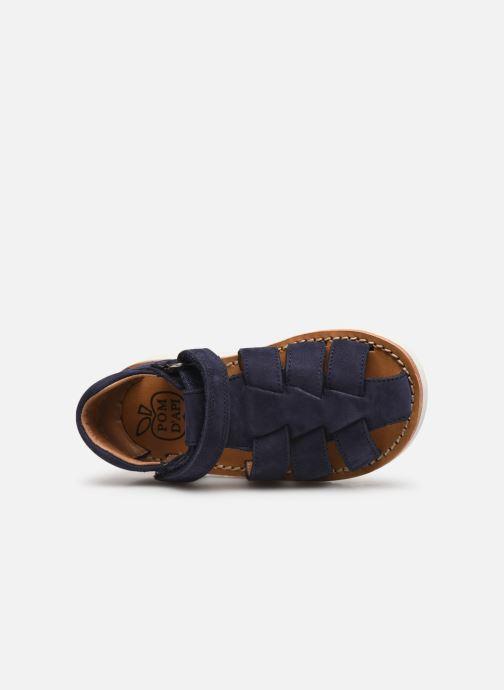 Sandales et nu-pieds Pom d Api Waff Papy Bleu vue gauche